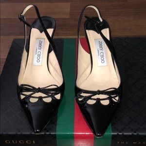 Jimmy Choo Patent Leather Kitten Pump